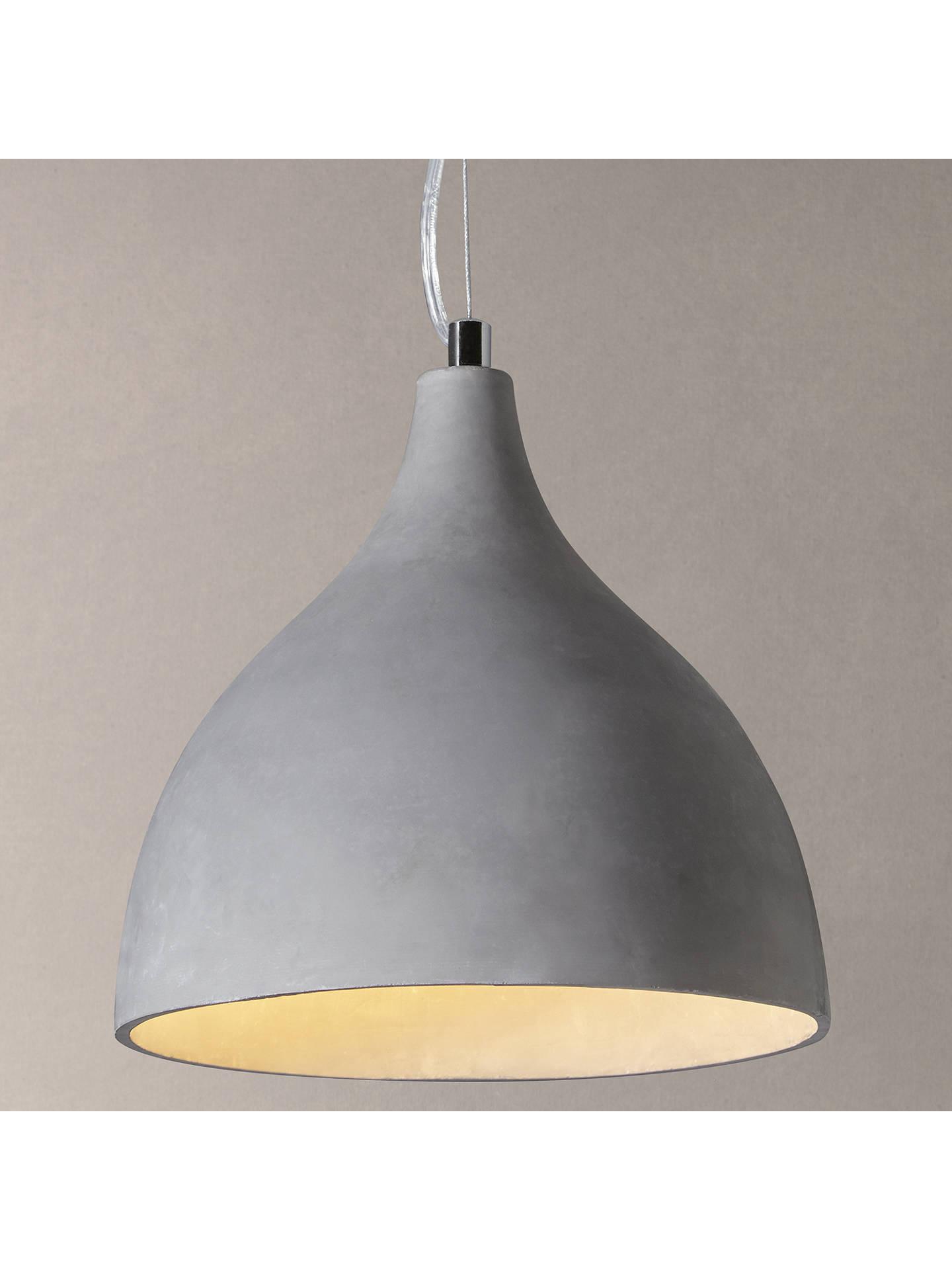 John Lewis Partners Parry Concrete Effect Pendant Light