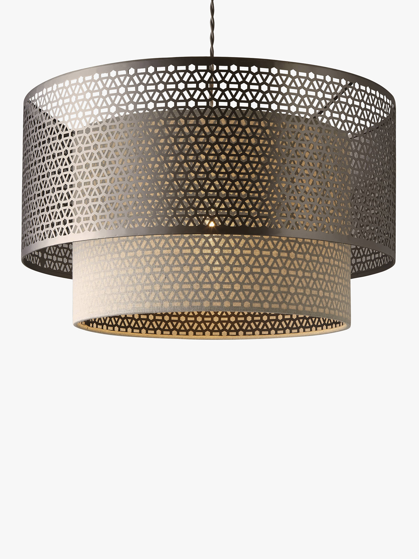 John Lewis Partners Meena Fretwork Steel Ceiling Light