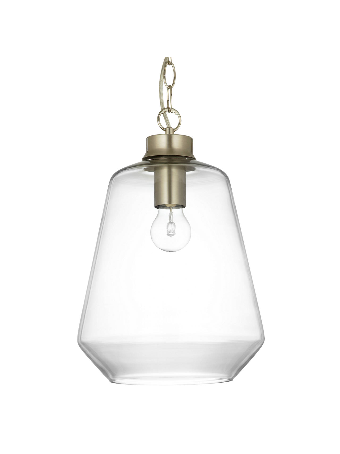 Colbert Glass And Brass Es Pendant Light Clear Silver