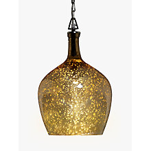 Buy John Lewis Tallulah Copper Pendant Light, Mercury Online at johnlewis.com
