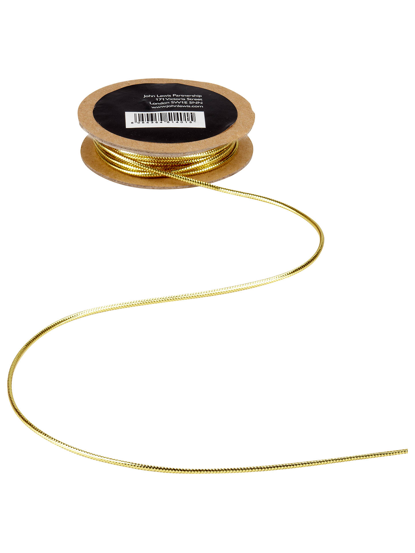 Buy John Lewis & Partners Shiny Cord, 5m, Gold Online at johnlewis.com