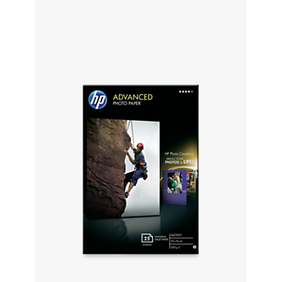 HP Advanced Glossy 10x15 Photo Paper, 25 Sheets