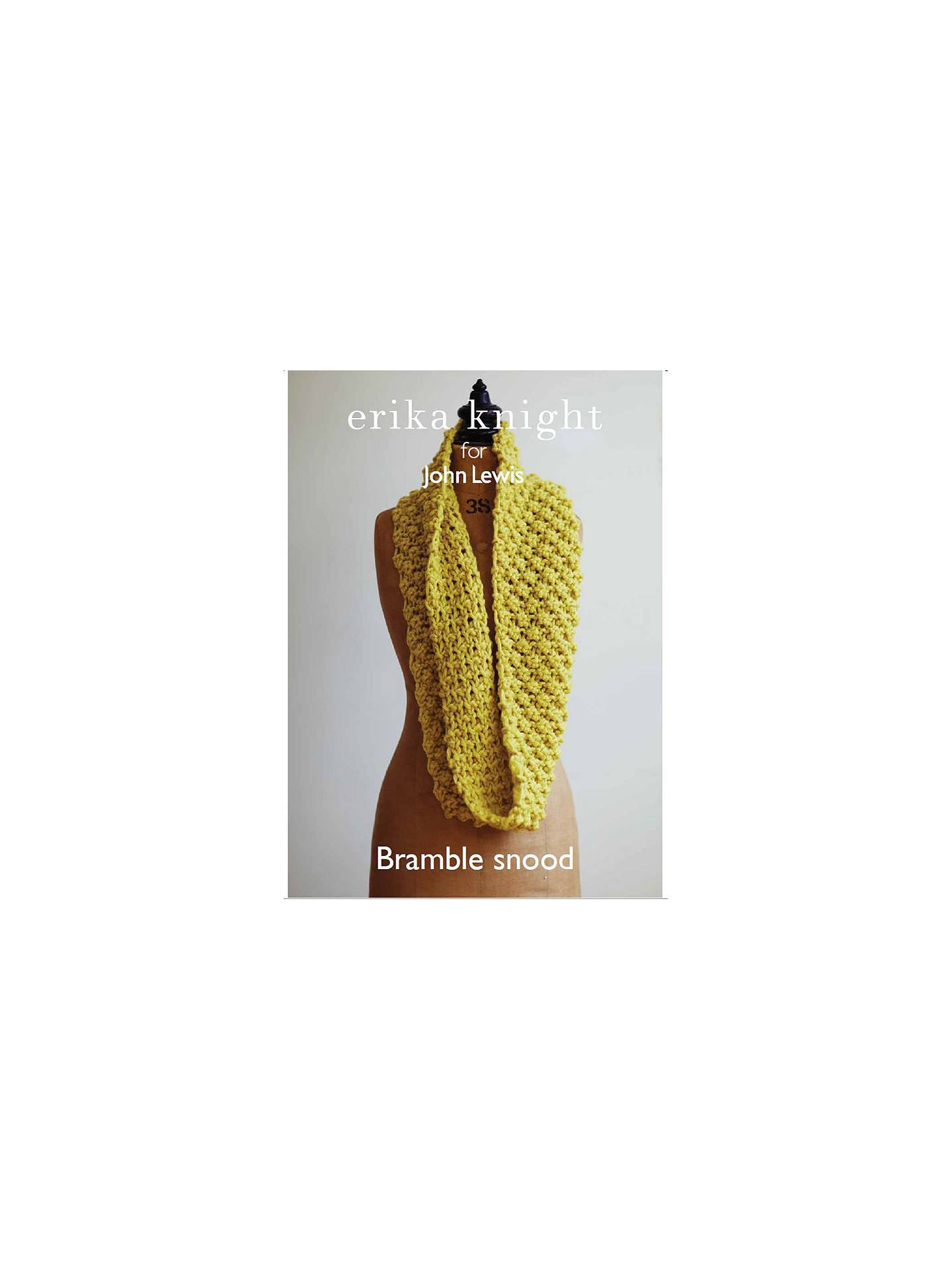 1bfb30a806 Buy Erika Knight for John Lewis Adult Snood Knitting Pattern Online at  johnlewis.com ...