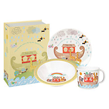 Buy Little Rhymes Noah's Ark Melamine Set, 3 Pieces Online at johnlewis.com