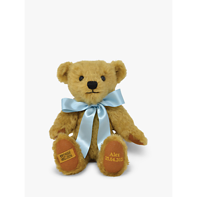 Merrythought Personalised Shrewsbury Teddy Bear with Gold Thread