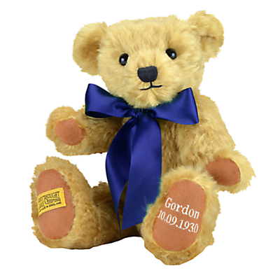 Product photo of Merrythought personalised shrewsbury teddy bear with silver thread