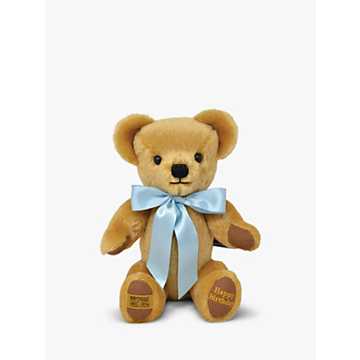 Image of Merrythought Personalised London Gold Teddy Bear With Gold Thread Soft Toy