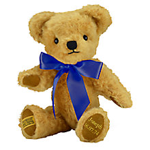 Buy Merrythought Personalised London Curly Gold Teddy Bear with Gold Thread Online at johnlewis.com
