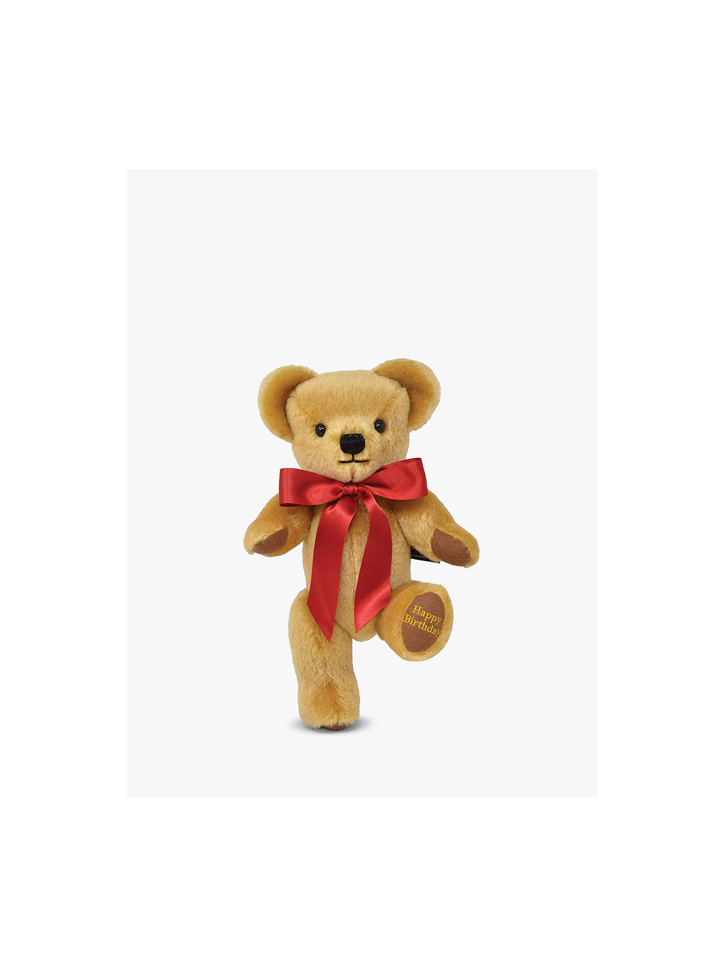 BuyMerrythought Personalised London Gold Teddy Bear With Gold Thread Soft Toy, Red Online at johnlewis.com