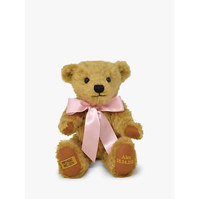 Merrythought Personalised Shrewsbury Teddy Bear with Gold Thread