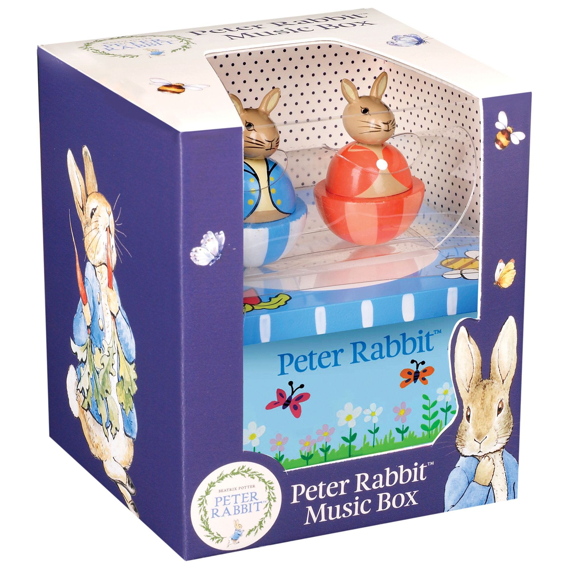 Orange Tree Peter Rabbit Moving Character Music Box