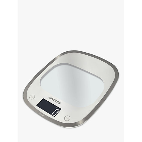 Buy Salter Curve Glass Electronic Kitchen Scale, White Online At  Johnlewis.com ...
