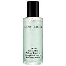 Buy Elizabeth Arden All Gone Lip & Eye Makeup Remover, 100ml Online at johnlewis.com