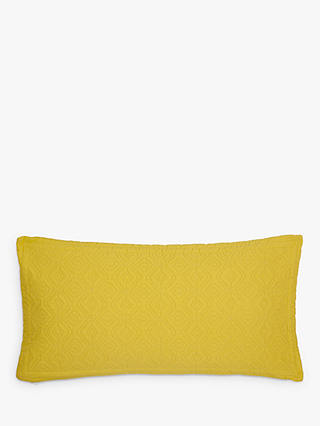 Buy John Lewis & Partners Isana Embroidered Cushion, Saffron Online at johnlewis.com
