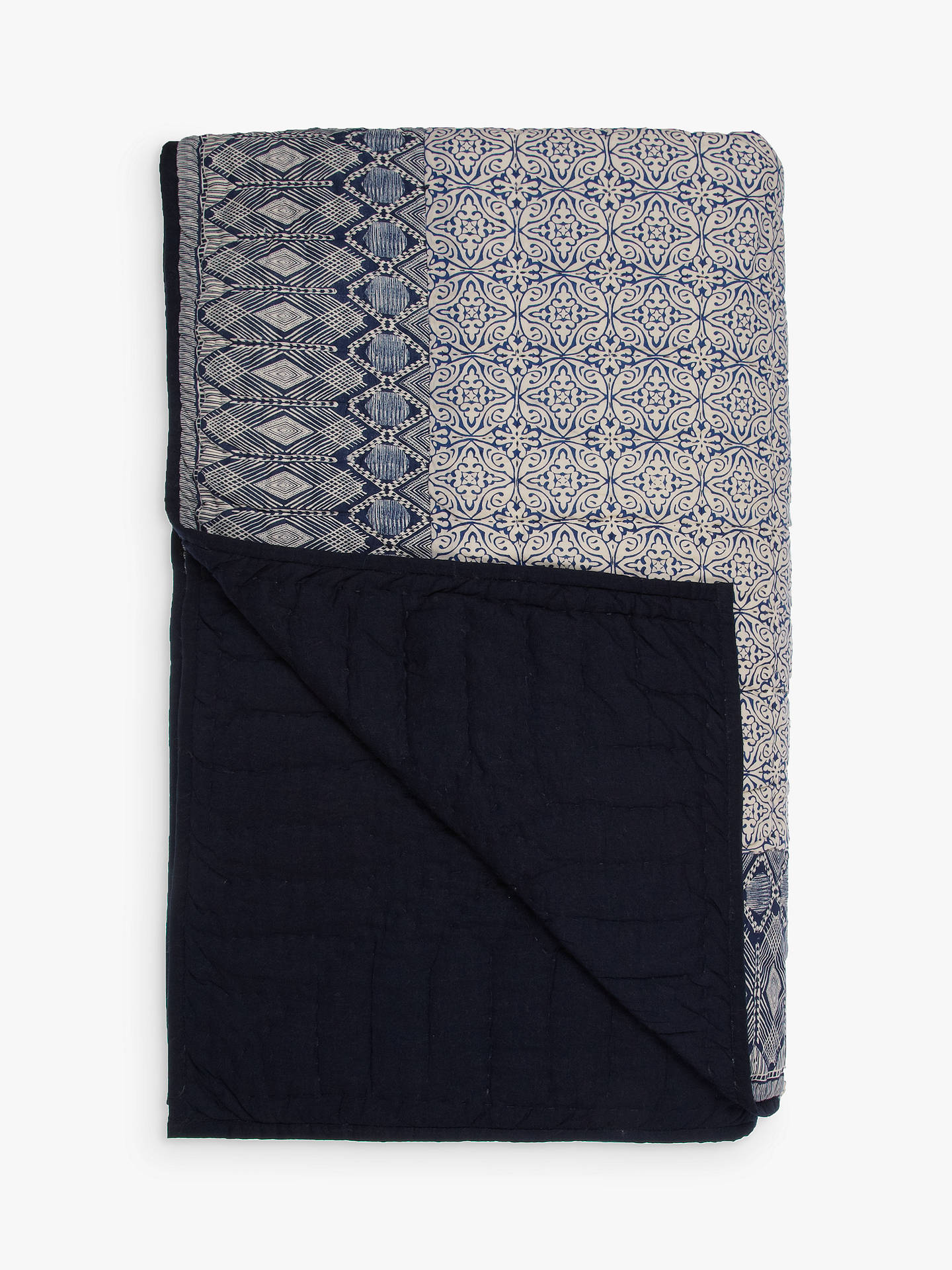 BuyJohn Lewis & Partners Aztec Patch Bedspread Online at johnlewis.com