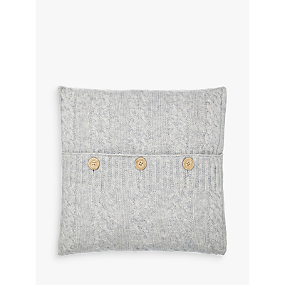 John Lewis Croft Collection Cashmere Blend Cable Knit Cushion