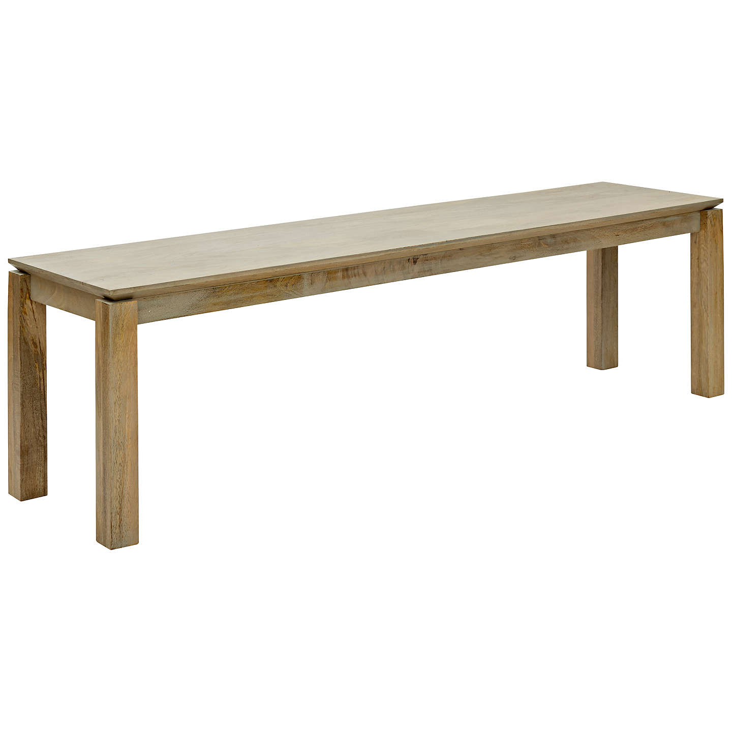 john lewis asha 3-seater dining bench, grey at john lewis 3 Seater Dining Bench