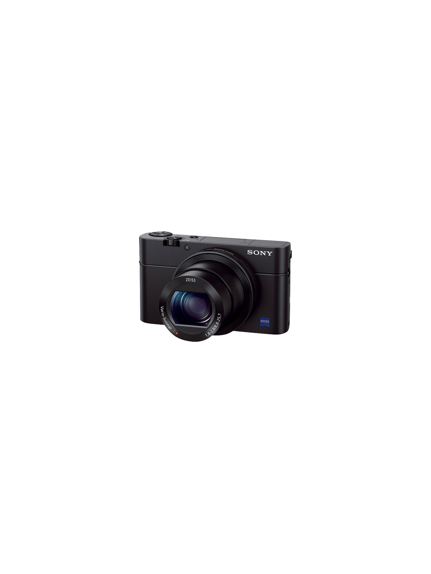 "Buy Sony Cyber-shot DSC-RX100 III Camera, HD 1080p, 20.1MP, 2.9x Optical Zoom, Wi-Fi, NFC, OLED EVF, 3"" Screen, Black Online at johnlewis.com"