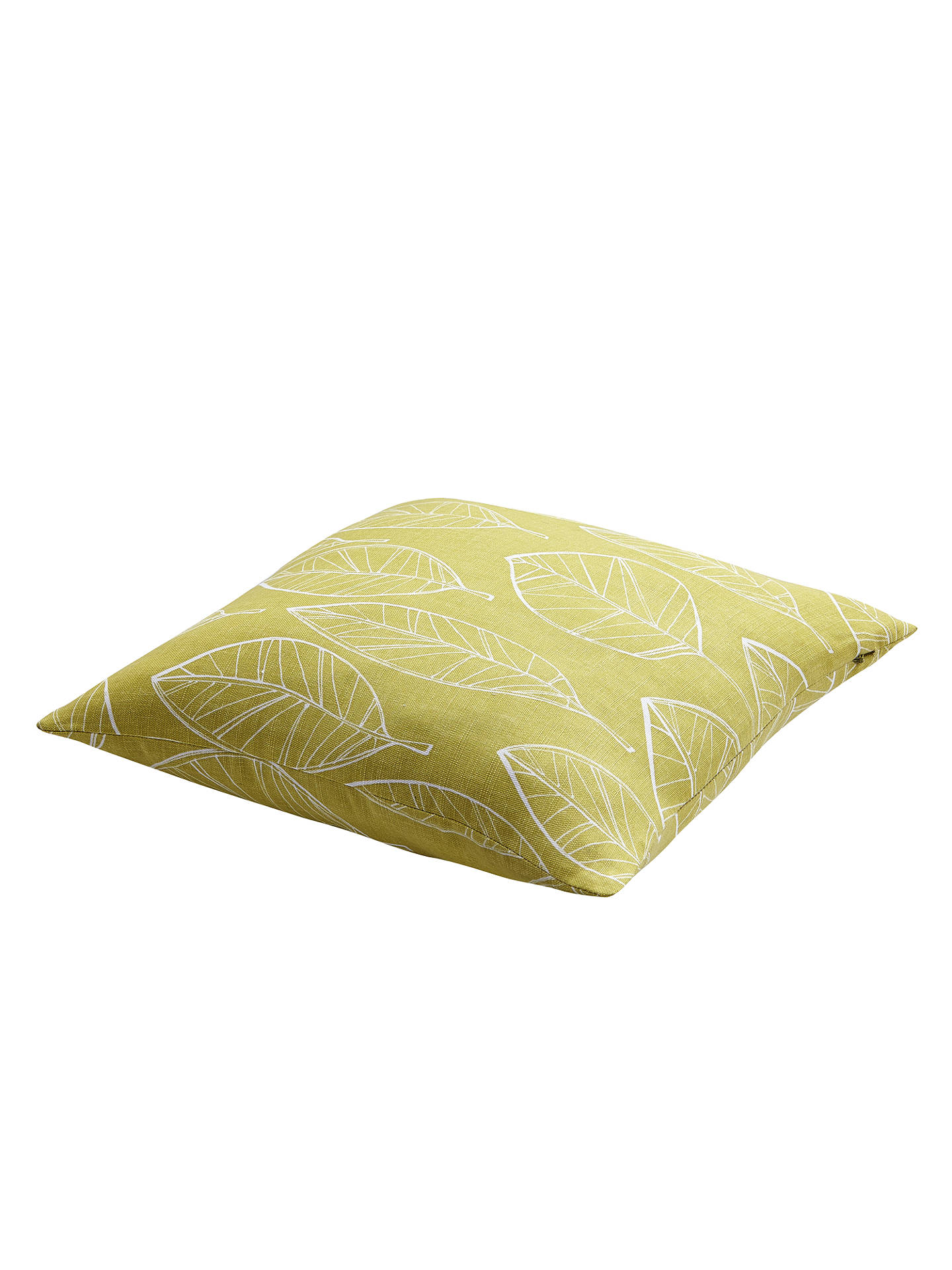 Buy John Lewis Aspen Cotton Cushion, Fennel Online at johnlewis.com