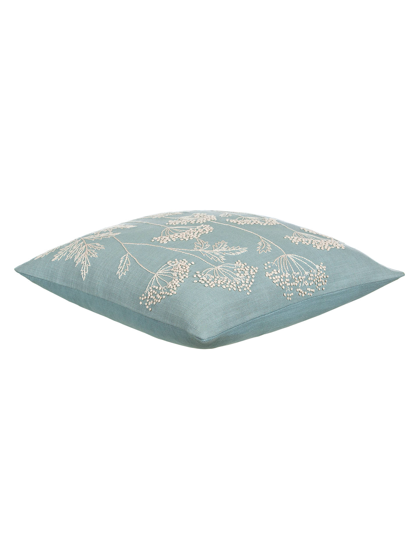 Buy John Lewis & Partners Cow Parsley Cushion, Duck Egg Online at johnlewis.com