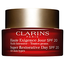 Buy Clarins Super Restorative Day Cream SPF20 - All Skin Types, 50ml Online at johnlewis.com
