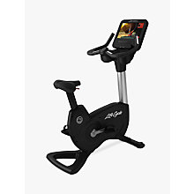Buy Life Fitness Platinum Club Series Upright Lifecycle Exercise Bike with Discover SE Tablet Console Online at johnlewis.com