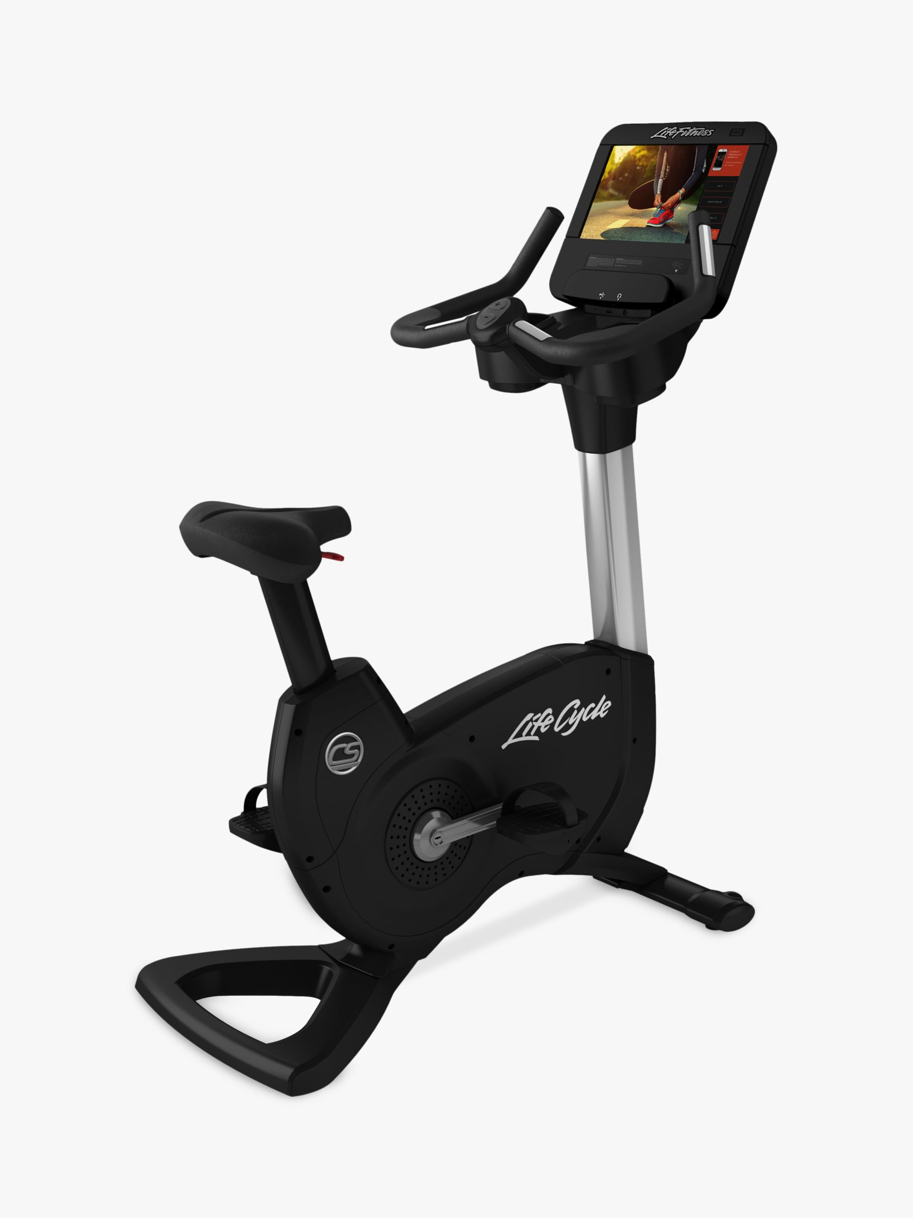 Life Fitness Life Fitness Platinum Club Series Upright Bike with Discover SE3HD Console, Arctic Silver