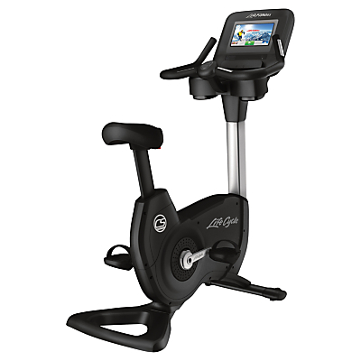 Life Fitness Platinum Club Series Upright Lifecycle Exercise Bike with Discover SI Tablet Console