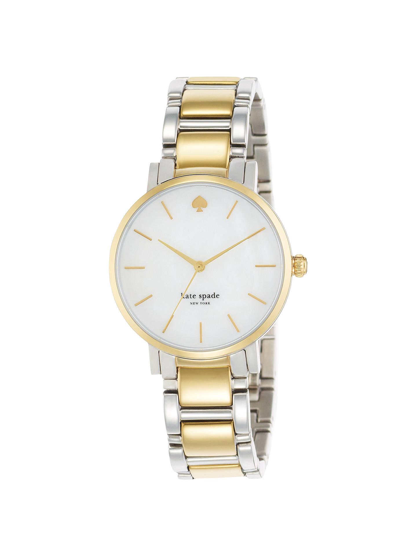 134b9bd67 Buy kate spade new york 1YRU0005 Women's Gramercy Two Tone Bracelet Strap  Watch, Silver/