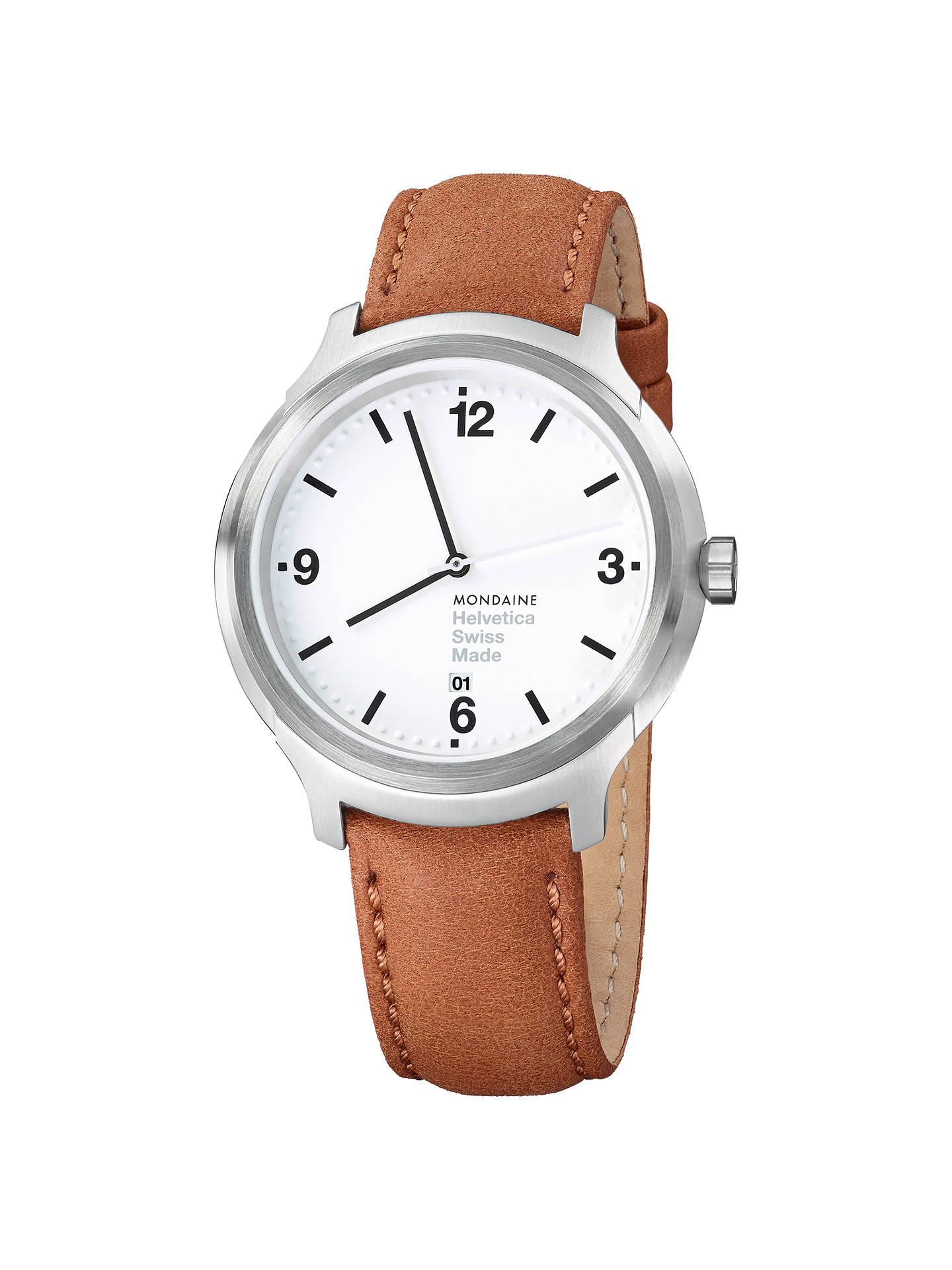 Mondaine MH1B1210LG Unisex Helvetica Leather Strap Watch
