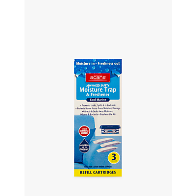 Acana Safety Dehumidifier Refill Cartridge, Pack of 3