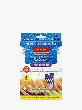Acana Hanging Wardrobe Moisture Absorber Sachets, Pack of 4