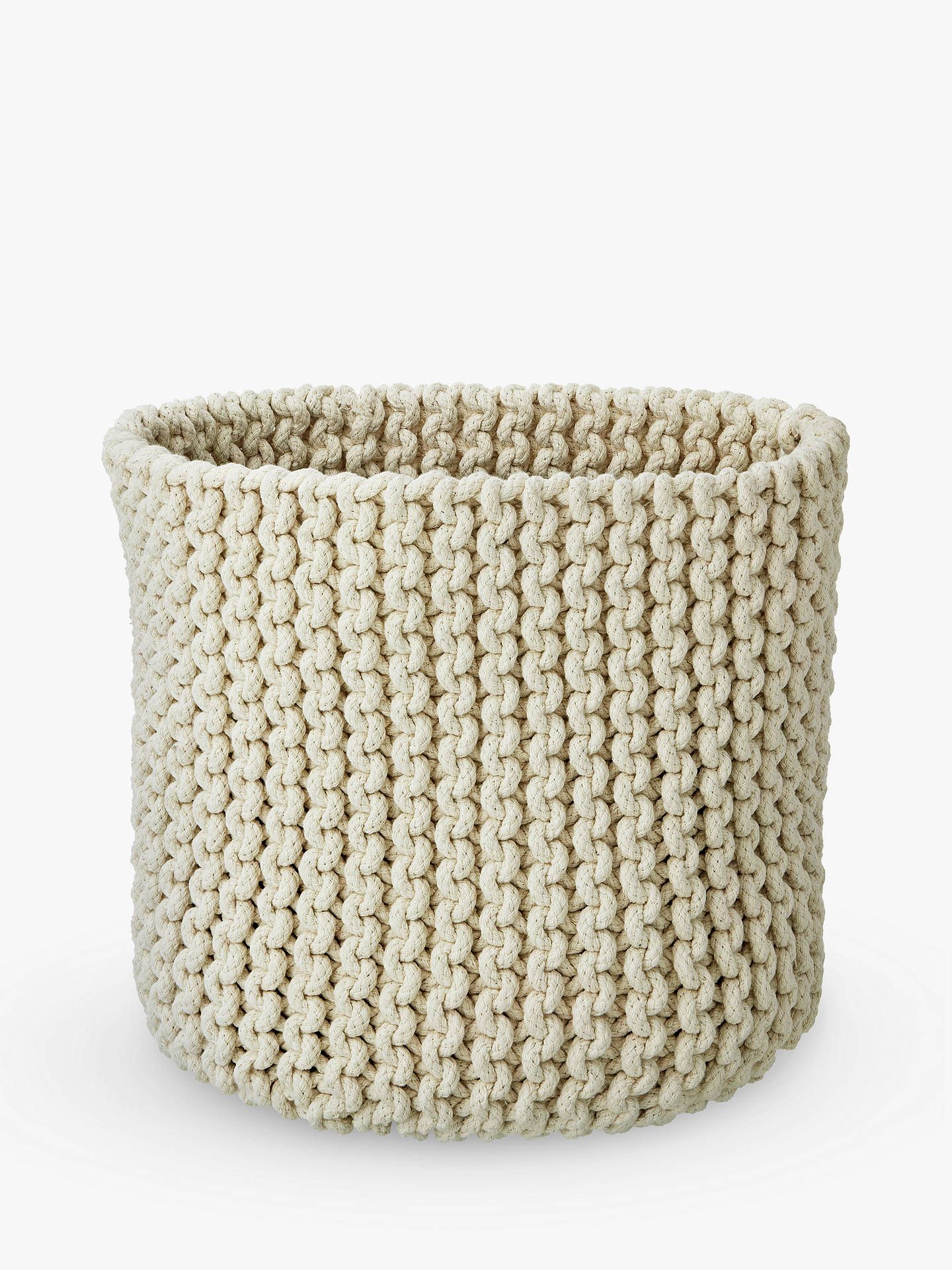 Croft Collection Knitted Basket At John Lewis Partners