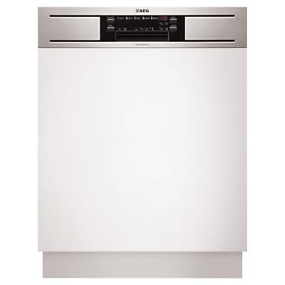 AEG F65610IM0P SemiIntegrated Dishwasher Stainless Steel