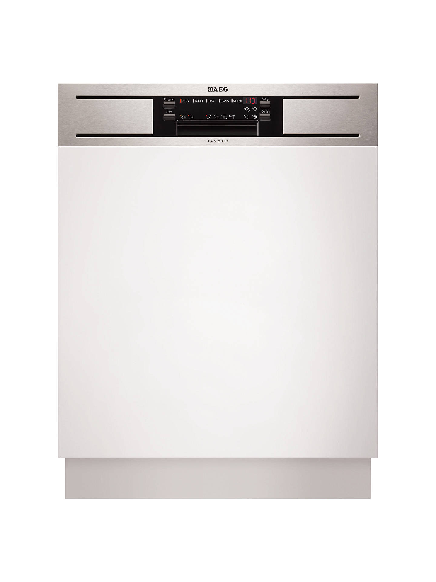 Aeg F65610im0p Semi Integrated Dishwasher Stainless Steel At John