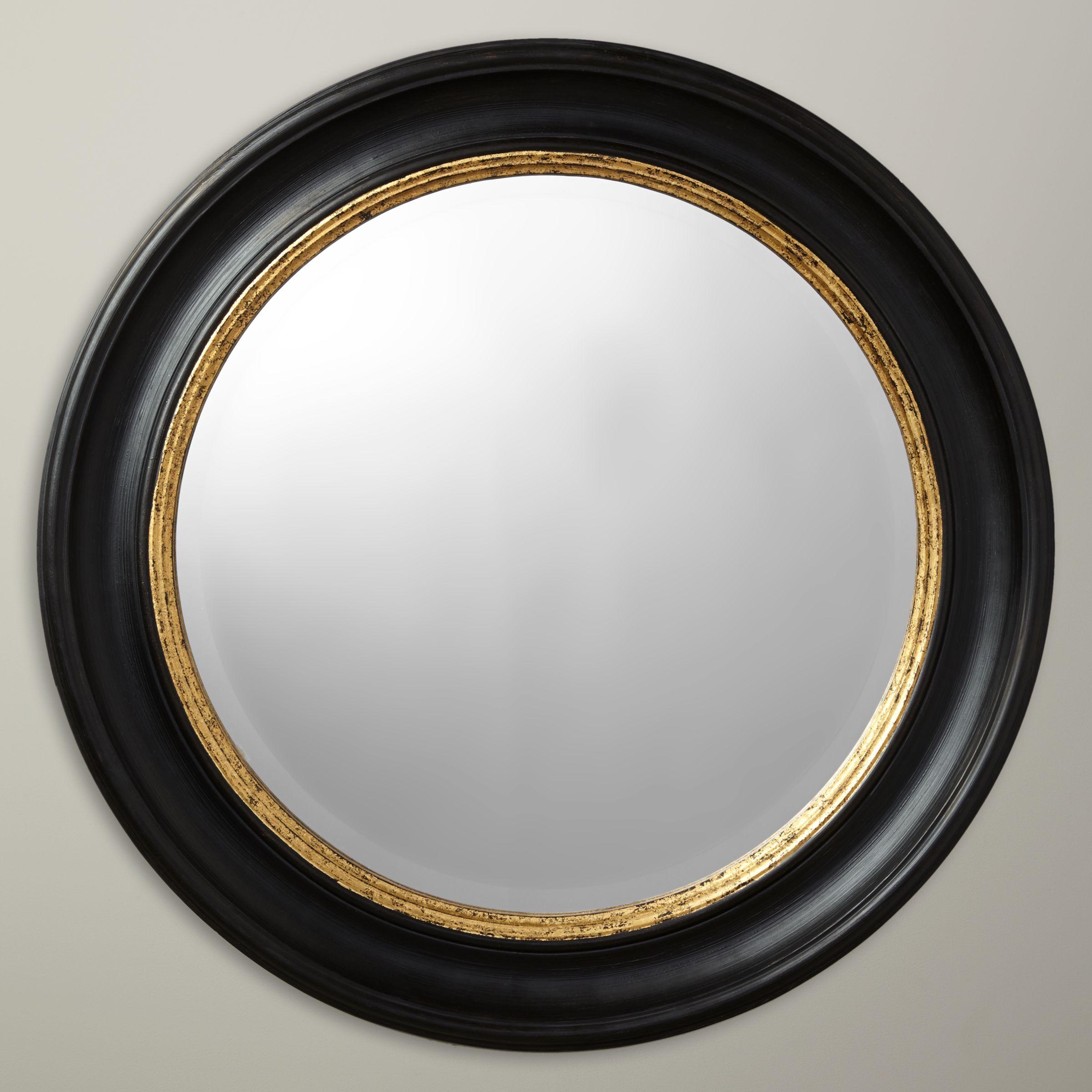 John Lewis Partners Circle Wall Mirror Dia 68cm Black Gold At John Lewis Partners