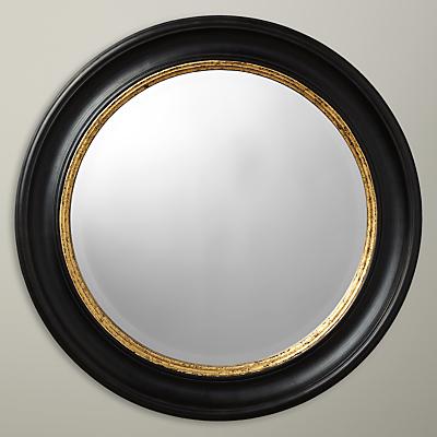 John Lewis Circle Wall Mirror, Black/Gold, Dia.68cm