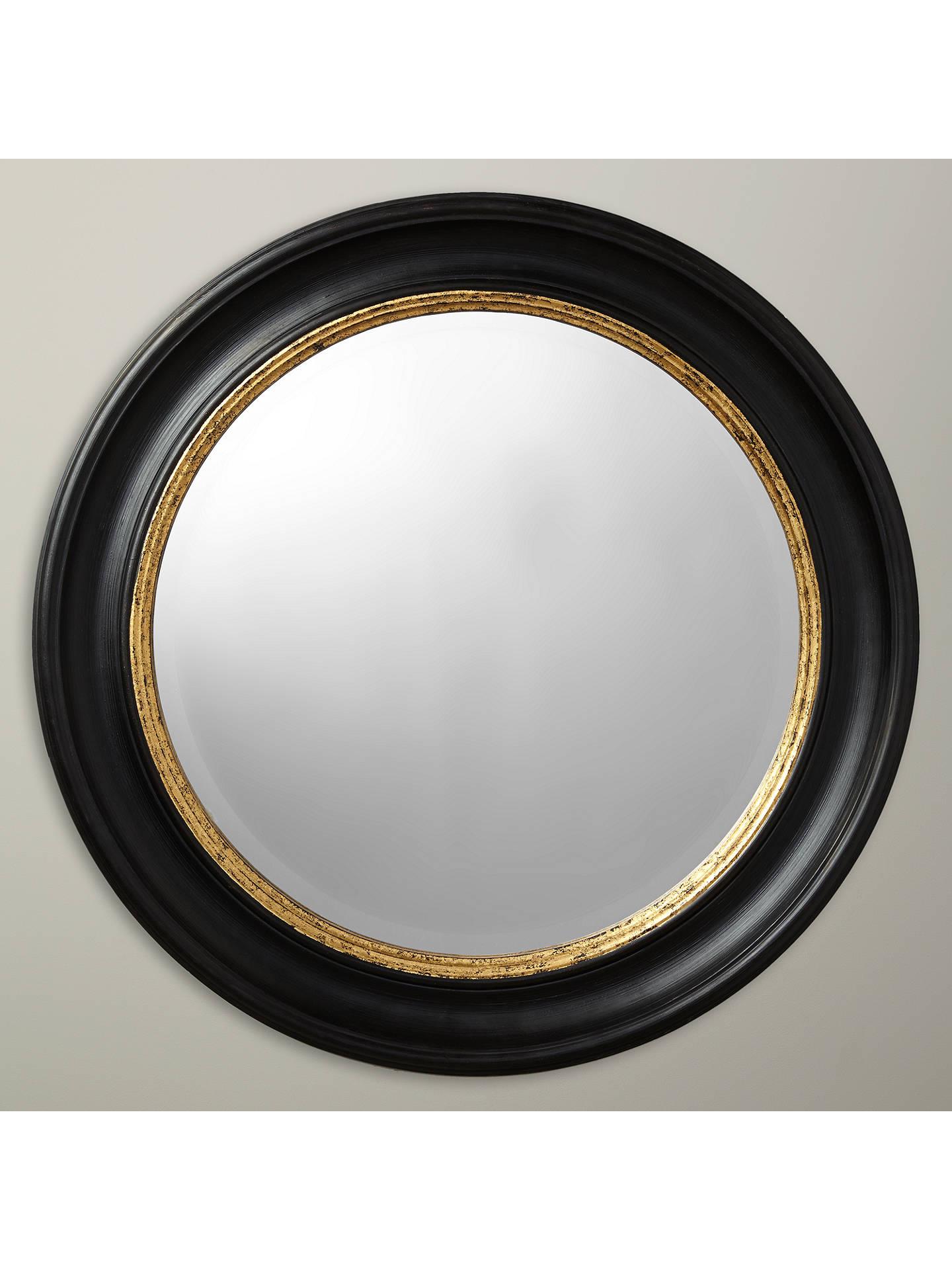John Lewis & Partners Circle Wall Mirror, Dia.68cm, Black/Gold by John Lewis & Partners
