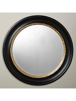 John Lewis & Partners Circle Wall Mirror, Dia.68cm, Black/Gold