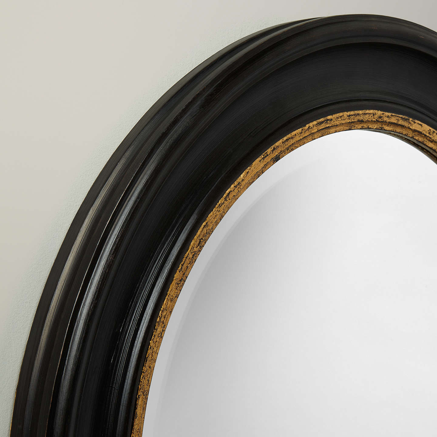 BuyJohn Lewis Circle Wall Mirror, Dia.68cm, Black/Gold Online at johnlewis.com