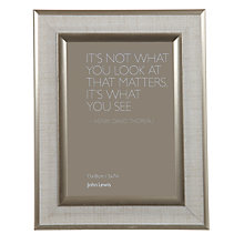 "Buy John Lewis Champagne Edge Linen Photo Frame, 5 x 7"" (12 x 18cm) Online at johnlewis.com"