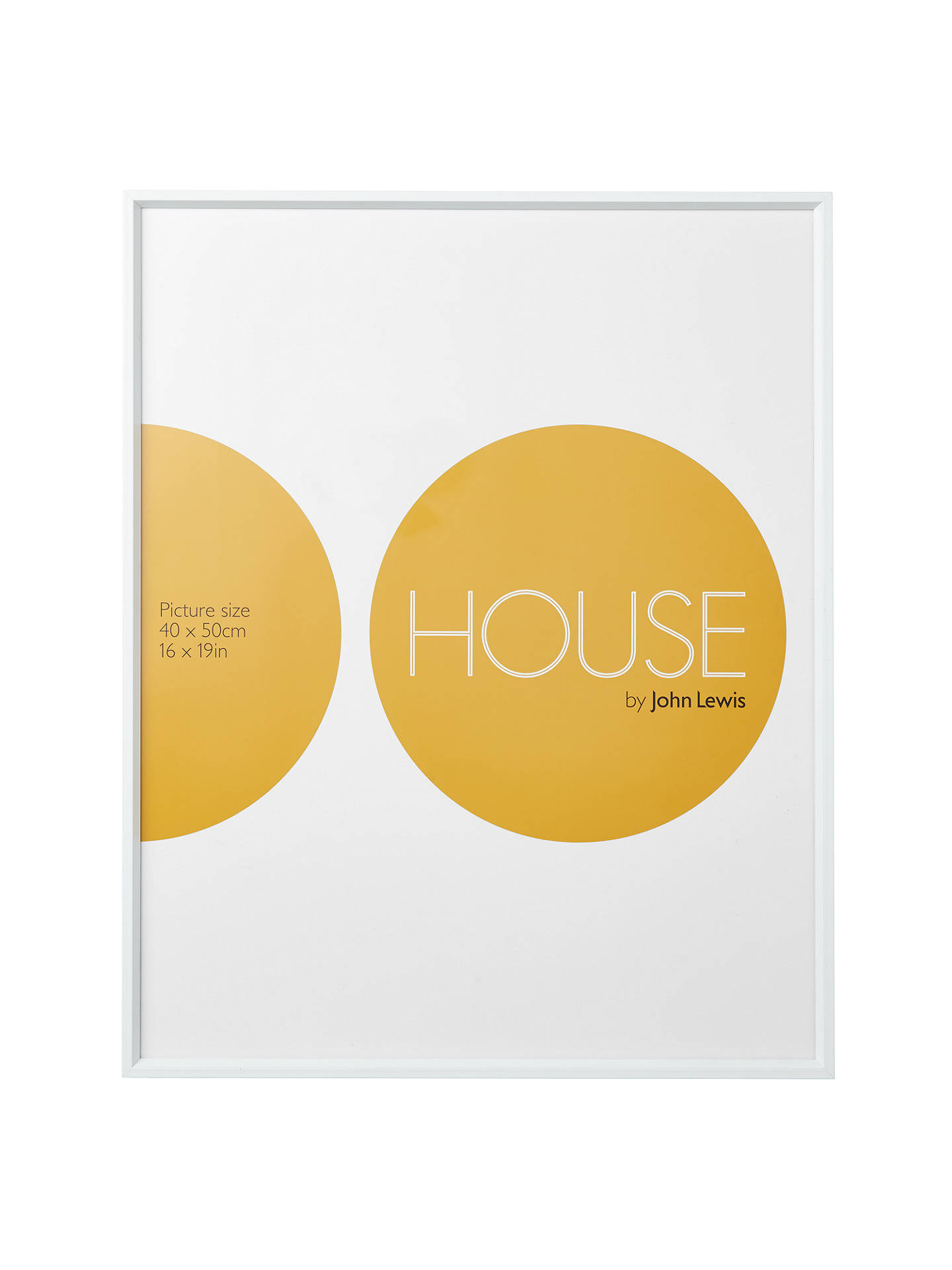 House by John Lewis White Aluminium Picture Frame, 16 x 20\
