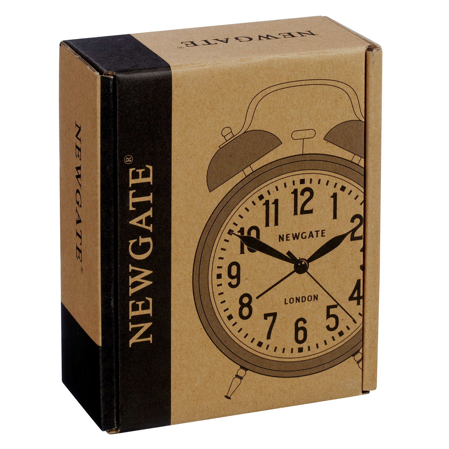 ... BuyNewgate Covent Garden Twinbell Clock, Linen White Online At  Johnlewis.com ...