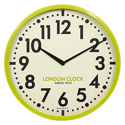 London Clock Company Retro Wall Clock, Dia.50cm, Lime
