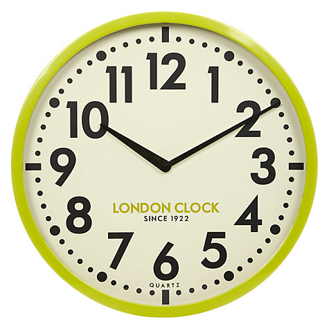 Buy London Clock Company Retro Wall Lime Dia50cm Online At Johnlewis