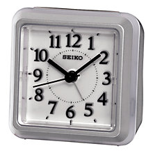 Buy Seiko Alarm Clock, Silver Online at johnlewis.com