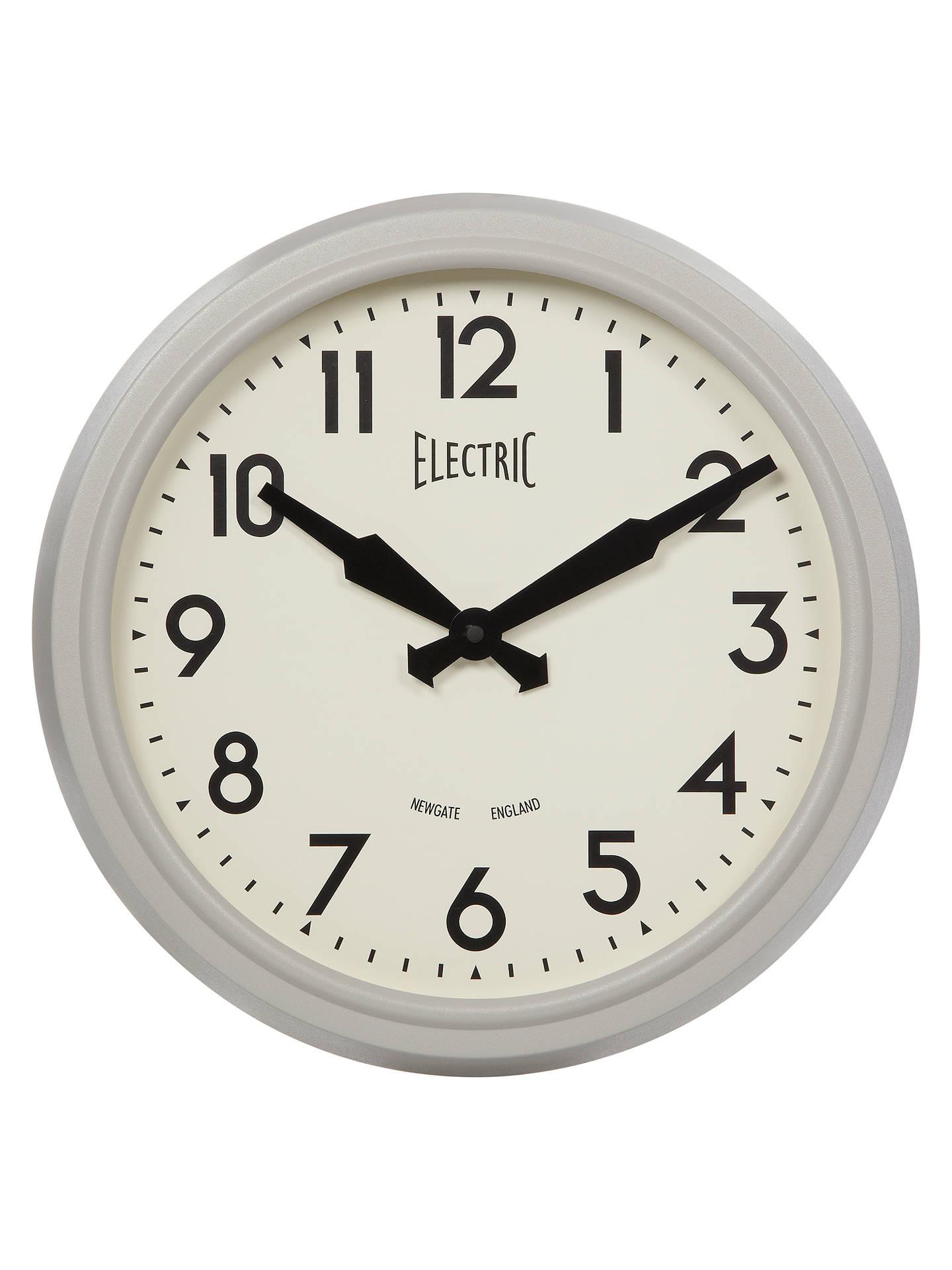 Newgate 50 S Electric Wall Clock Grey At John Lewis Partners