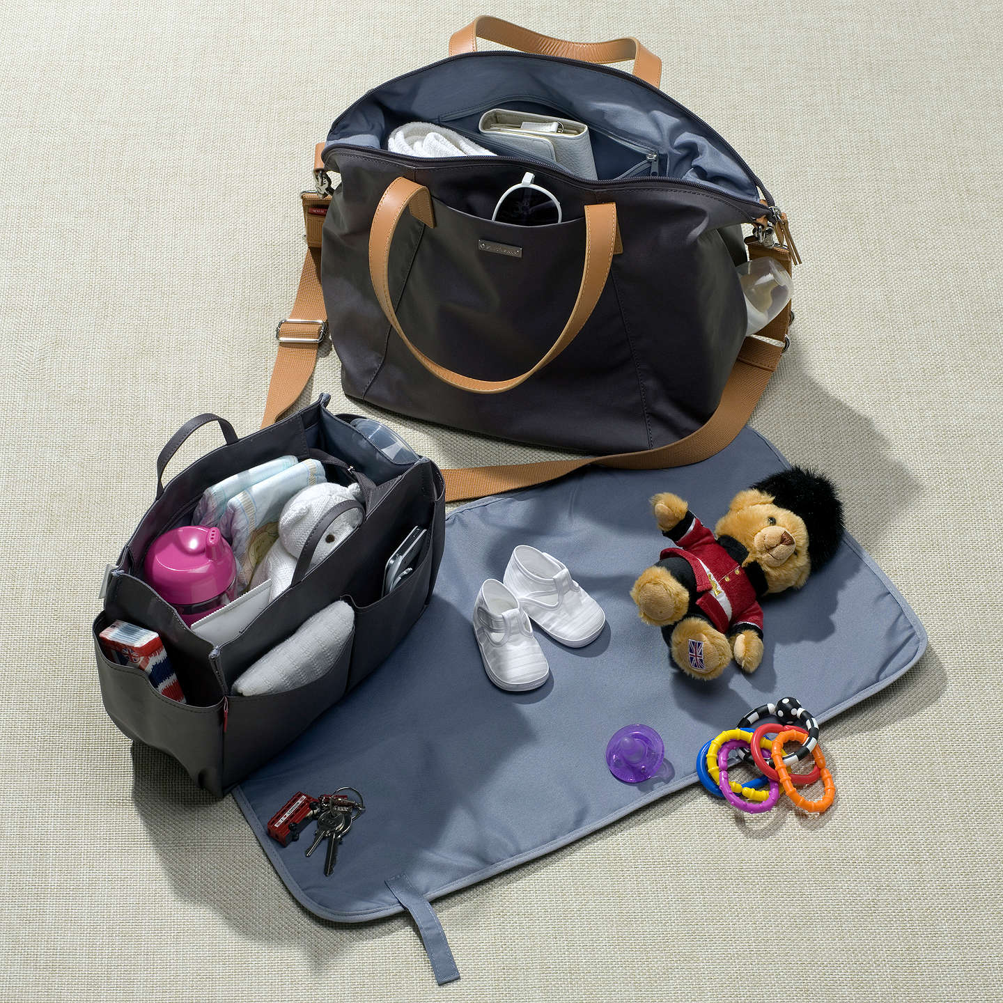 BuyStorksak Noa Changing Bag, Chestnut Grey Online at johnlewis.com