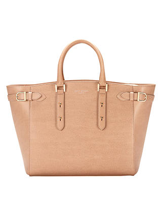 Buy Aspinal of London Marylebone Leather Tote Bag, Cream Online at johnlewis.com