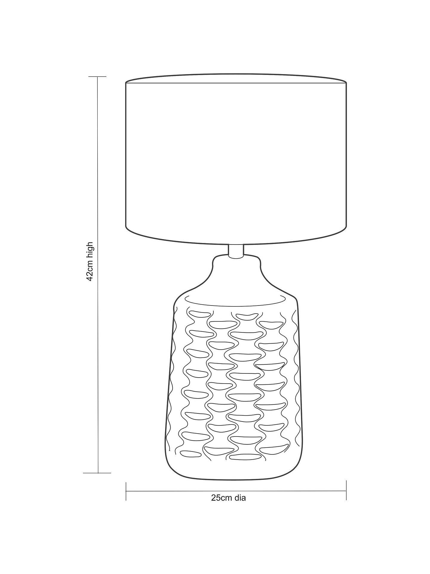 87848b7fe2aa Buy John Lewis & Partners Annie Table Lamp, White/Grey Online at johnlewis.